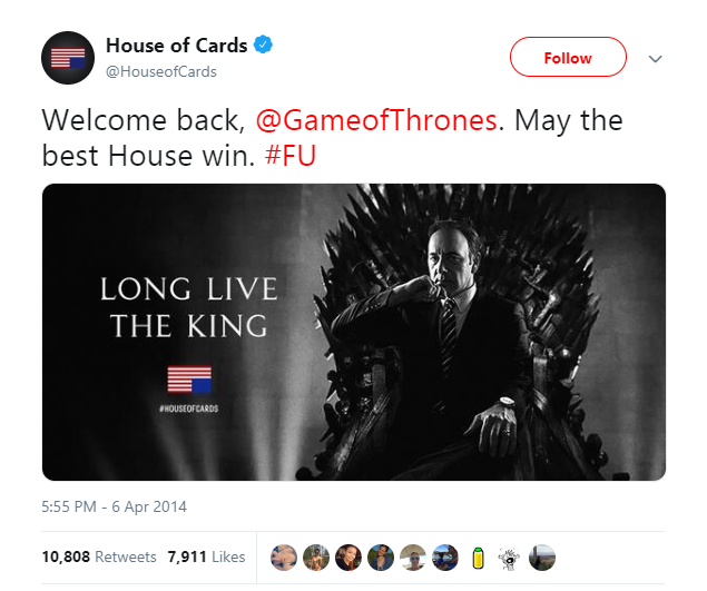 Twitter Game of Thrones ad