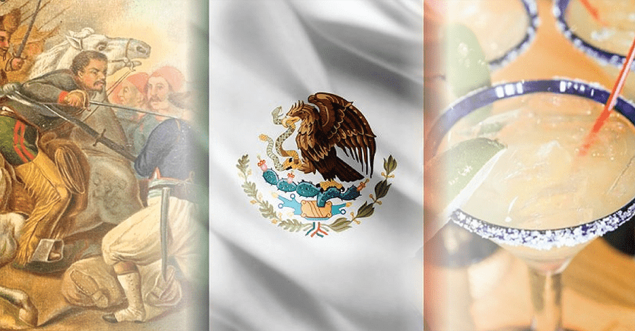 Milestones depicting Cinco de Mayo