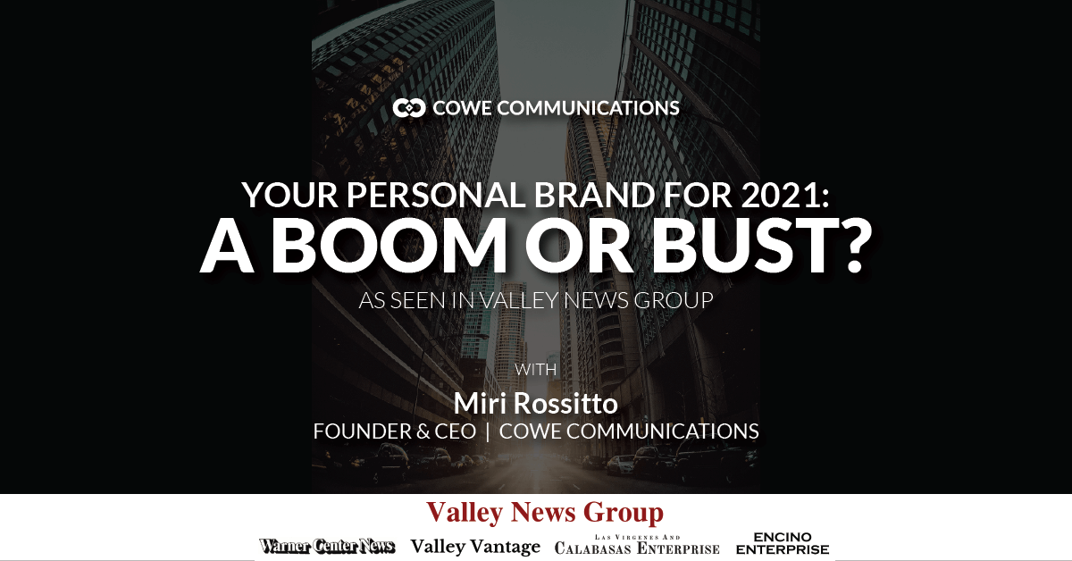 Your Personal Brand for 2021: A Boom or Bust